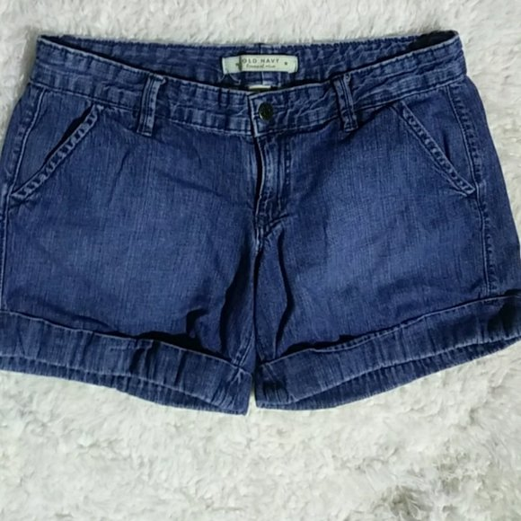 ON lowest rise denim shorts 6